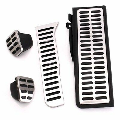 Clutch Fuel Brake Sport Foot Rest MT Pedals Pads Set For VW Jetta MK5 Golf MK6 w