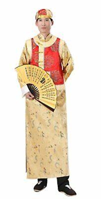 Bysun Princes of the Qing Dynasty costumes Yellow Bottoming-shirt&Red WaistcoatF