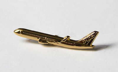 Pin BOEING 767 Sideview 30mm Pin Gold for Pilots Crew