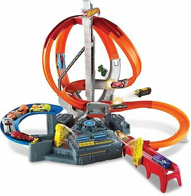 Hot Wheels Spin Storm Toy Car Track Play Set