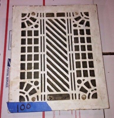 Square Cast Iron wall Floor Register Heat Grate antique vintage  louvered