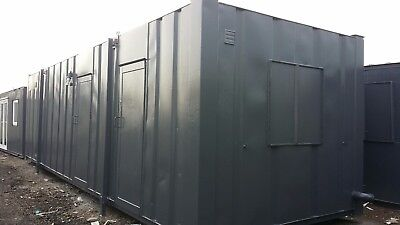 32ft x 10ft Toilet Block Site Toilet Portable Office Welfare Unit Shipping