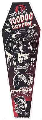 Voodoo Coffin Sticker Decal Vince Ray VR71
