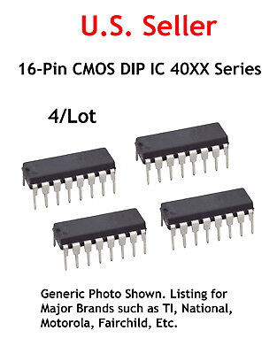 4022: 16-Pin CMOS DIP IC:Octal Counter With 8 Outputs: 4/Lot