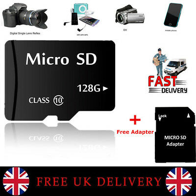 128GB Micro SD Card Class 10 TF Flash Memory SDHC SDXC - 128G - With Adapter NEW