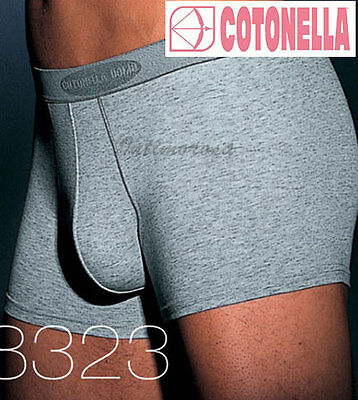 Boxer Men's Stretch Cotton 2 Pieces Cotonella 8323 Grey S M L Xl Xxl