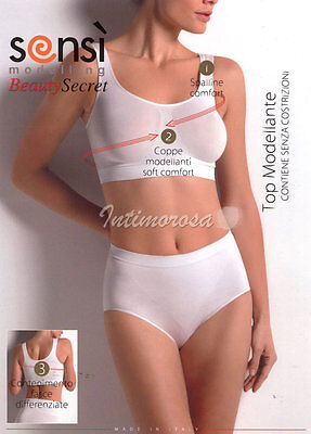 BRA TOP SENSì MODELING WITHOUT UNDERWIRE SUPPORTS without COMPRESS