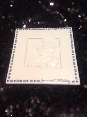 "DISNEY ""Gourmet Mickey"" Blue White Trivet With Tag"