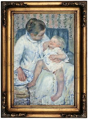 8x10 Print 0515 Mother About to Wash Her Sleepy Child by Mary Cassatt
