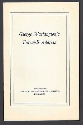 1796 Reprint Of George Washingtons Farewell Address 16 Page Booklet By See Info