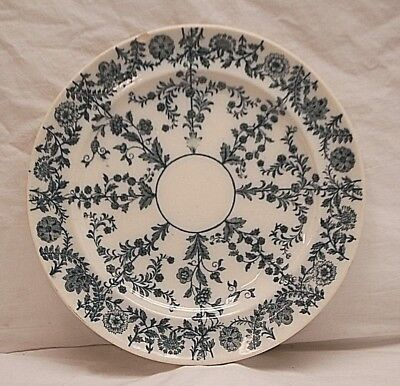 """Antique 1860s Gray Delhi by Spode 8-1/2"""" Salad Plate W.T Copeland & Sons England"""