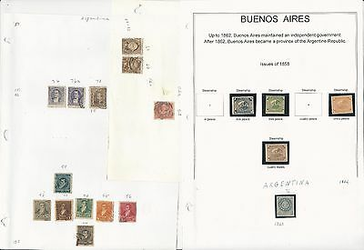 Argentina Regular Issue Collection, 1858 to 1994, Around 60 Pages
