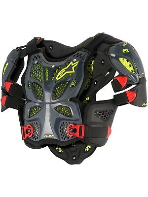 Alpinestars Anthracite-Black-Red A10 MX Chest Protector