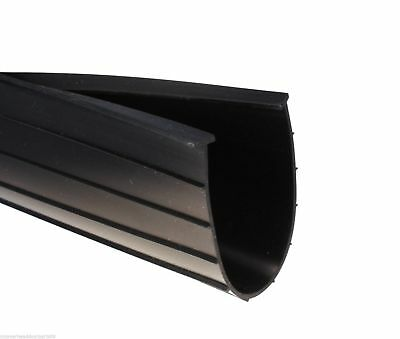 """6"""" T-Style Garage Door Bottom Weather Seal - Heavy Duty Rubber with 5/16"""" T"""