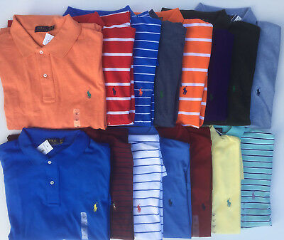 Men's POLO Ralph Lauren BIG And & TALL Polo Shirt Solid Stripes LT-4XLT 1XB-4XB