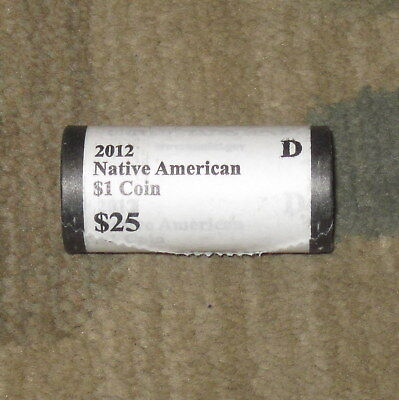 2012-D  Native American SACAGAWEA Dollar Roll UNOPENED MINT ROLL