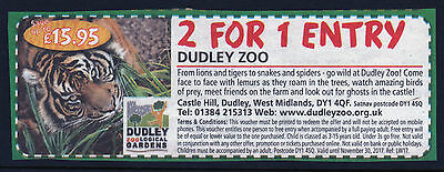 DUDLEY ZOO TWO FOR ONE ADMISSION VALID UNTIL 30th NOVEMBER 2017