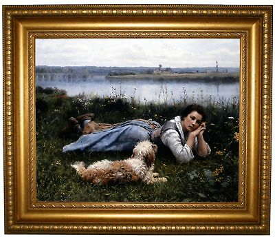 Knight Reverie 1866 Framed Canvas Print Repro 16x20