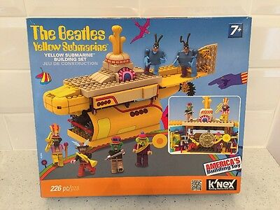 The Beatles Sgt Peppers Lonely Hearts Club Band Yellow Submarine K'nex Kit. New