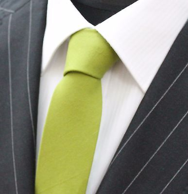 Tie Neck tie Slim Lime Green Quality Cotton T684