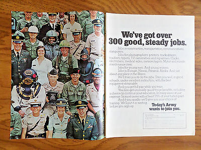 1972 Army Recruiting Ad We've got over 300 Good Steady Jobs