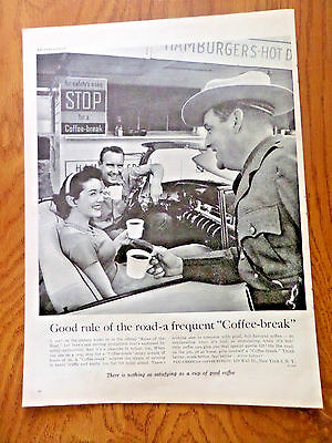 1955 Coffee-Break Ad Good rule of the Road A Frequent Coffee-Break Convertible