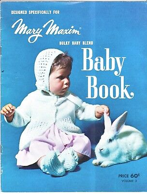 Vtg 70s Mary Maxim Baby Book Volume 3 Matinée Sets Layettes Dress Cape Blanket