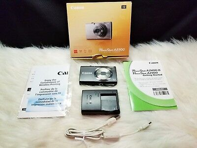 Canon PowerShot A2300 16.0 MP Digital Camera with 5x Optical Zoom (Black)
