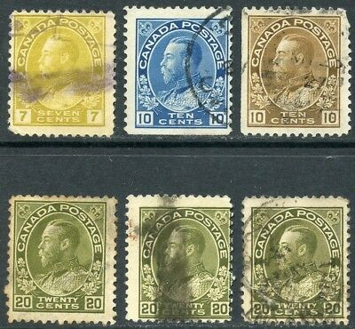 CANADA 1911-31 - KGV - 6 used stamps CV £14+ [2882]