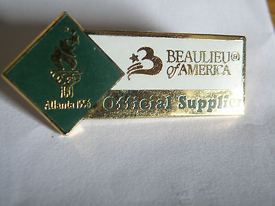 Atlanta Olympic Games 1996 Beaulieu of America Official Supplier Pin