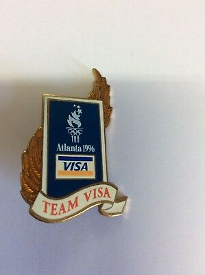 Atlanta Olympic Games 1996 Team Visa  Laurel Wreath Pin