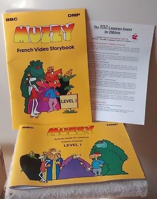 MUZZY BBC VIDEO French Level 1 Video Storybook Activity Book Parent Guide