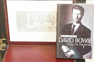 Rare David Bowie Living on the Brink Geo Tremlett Hard Cover Sleeve 1st Edition