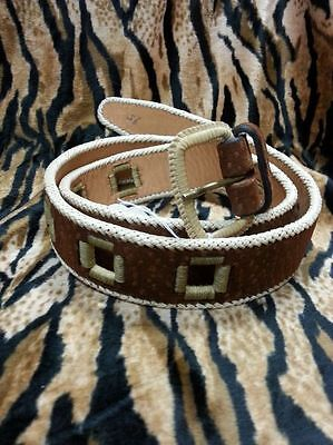 KILLER 50s ROCKABILLY LEATHER BELT- SIZE 95 -AMAZING DESIGN - TOP QUALITY - VLV