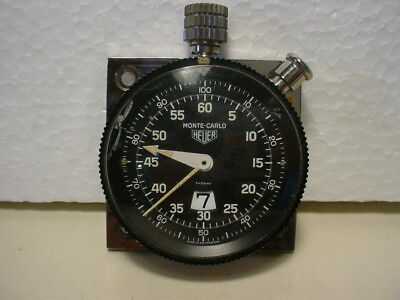 Heuer Monte Carlo vintage rally dashboard timer