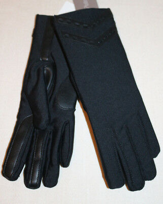 Isotoner Signature S/M Thinsulate Lined SmarTouch Flex Black Womens Gloves NEW
