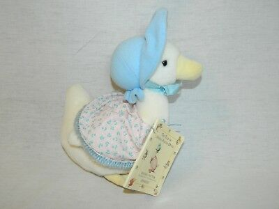 "EDEN Beatrix Potter 10"" plush Jemima Puddle Duck / Mother Goose Toy w Book VTG"