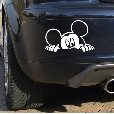 """7"""" Mickey Mouse Disney Peeping Car Bumper Window Sticker Decal Choise Of Colours"""