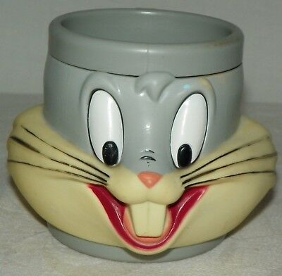 Vintage Bugs Bunny 3D Plastic Mug Cup 1992 Promotional Partners Looney Tunes