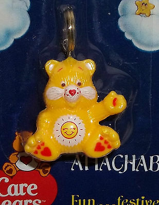 Vintage Care Bear Attachable Funshine Bear MINT on Card 1984