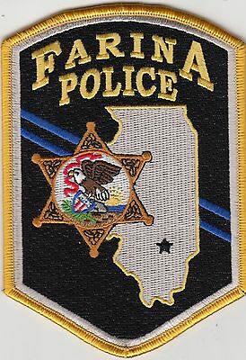 Farina Police Shoulder Patch Illinois Il