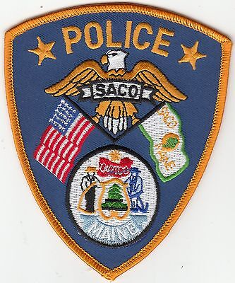 Saco Maine Me Police Shoulder Patch