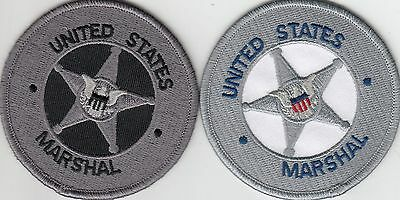 """Two (2) Different Us Marshal Patches 3"""" Shoulder Patch District Of Columbia Dc"""