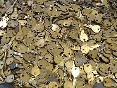 Vintage Lot of 1,000 NATIONAL LOCK COMPANY Brass Finished Used Keys - Steampunk