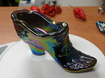 Mosser Glass - Amethyst Carnival Glass Bow Slipper