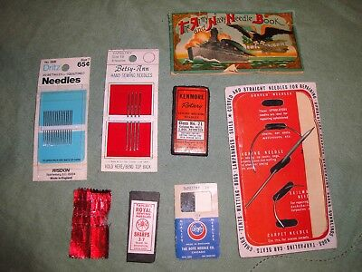 (2043) Vintage sewing needles including Army Navy needle book