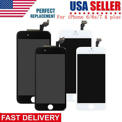 LCD Display + Glass Touch Screen Digitizer Assembly for iPhone 6 6S 7 Plus Lot