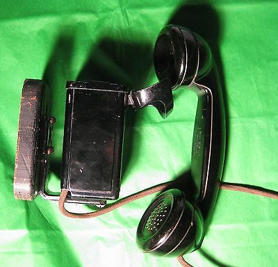 1930's Telephone Space Saver Bell System Western Electric Co.F1 Metal Non Dial