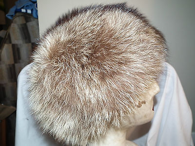 Vintage 60s/70s CANADIAN RACCOON FUR HAT RUSSIAN STYLE