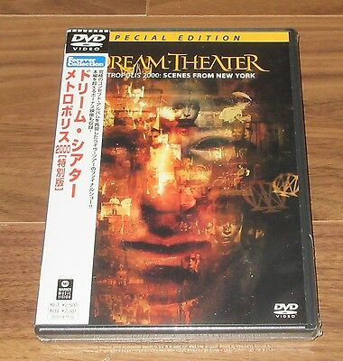 Sealed! DREAM THEATER Japan PROMO DVD Metropolis 2000 Scenes from NY more listed